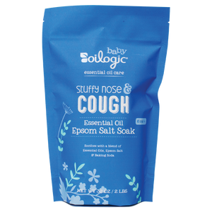 Stuffy Nose & Cough Essential Oil Epsom Salt Soak