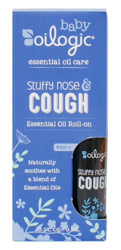 Essential oils for cough in child - Oilogic Cough & Stuffy Nose Baby blend. Trusted by mothers around the world, Oilogic care provides the best essential oils for stuffy nose