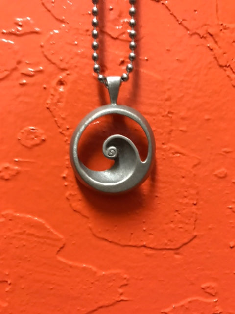 Surf Pendant: Barrel Wave