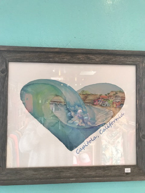 Capitola Heart Painting