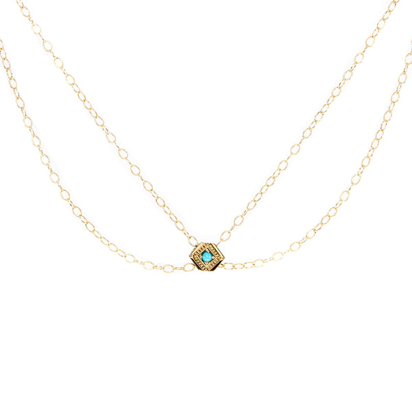 Diamond Eye Collar Necklace - Turquoise