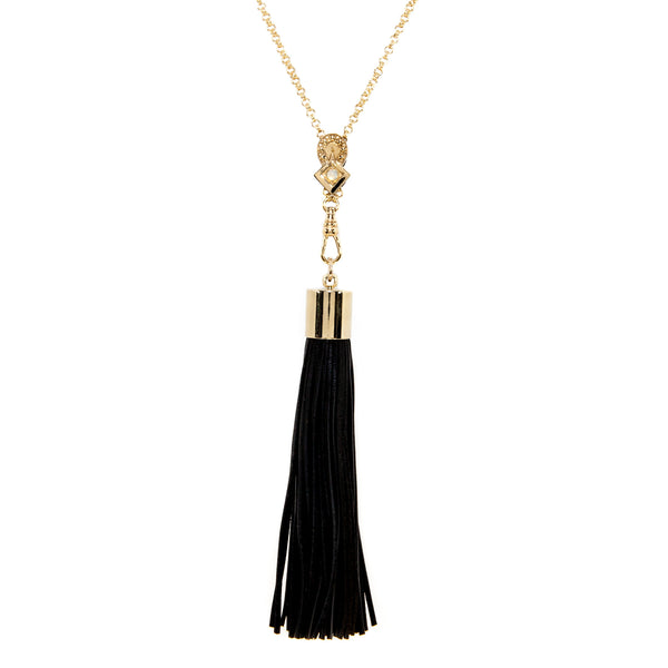 Lucky Arrow Tassel Necklace - Opal
