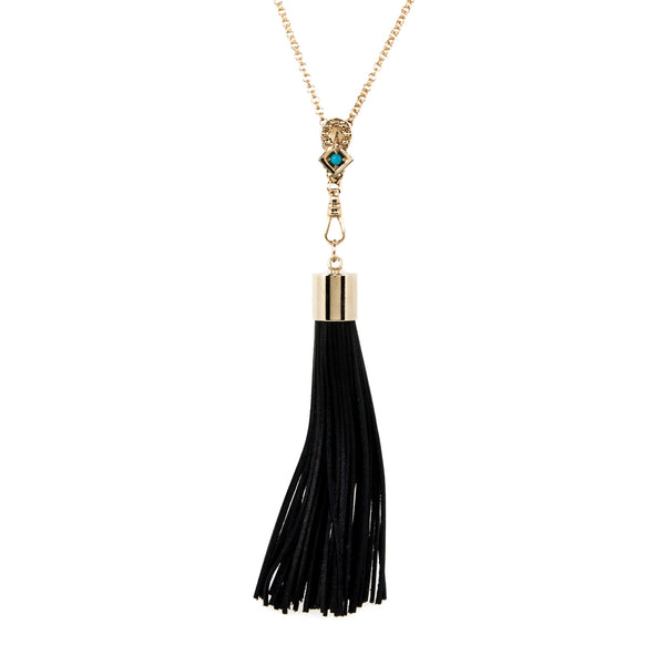Lucky Arrow Tassel Necklace - Turquoise