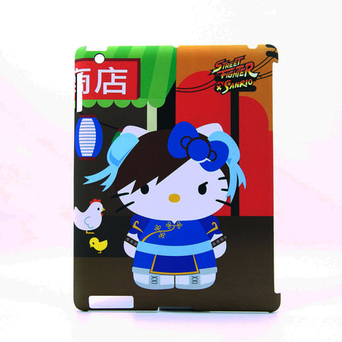 Hello Kitty Street Fighter Chung Li IPad Case