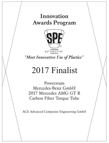 13 Powertrain: Carbon Fiber Torque Tube - 2017 Finalist