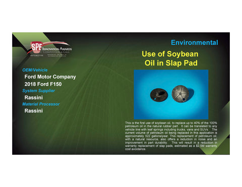 ENV: Use of Soybean Oil in Slap Pad - 2017 Foam Board Plaque