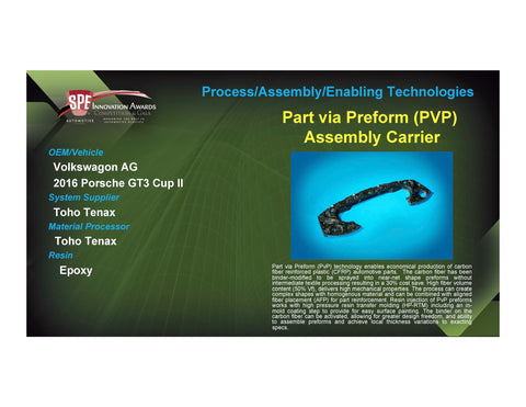 PAET: Part via Preform (PVP) Assembly Carrier - 2017 Foam Board Plaque