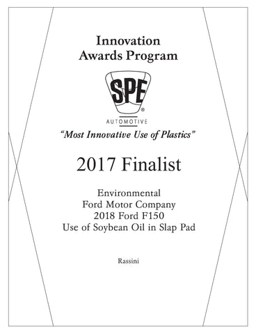 29 Environmental: Use of Soybean Oil in Slap Pad - 2017 Finalist