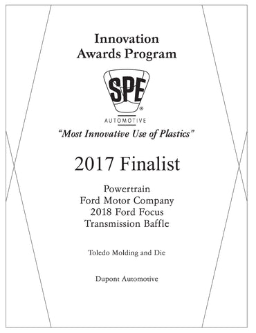 30 Powertrain: Transmission Baffle - 2017 Finalist