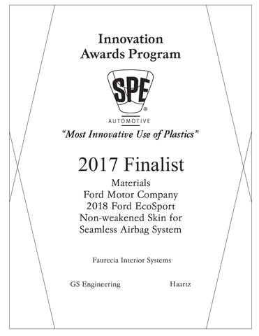 33 Materials: Non-Weakened Skin for Seamless Airbag System - 2017 Finalist