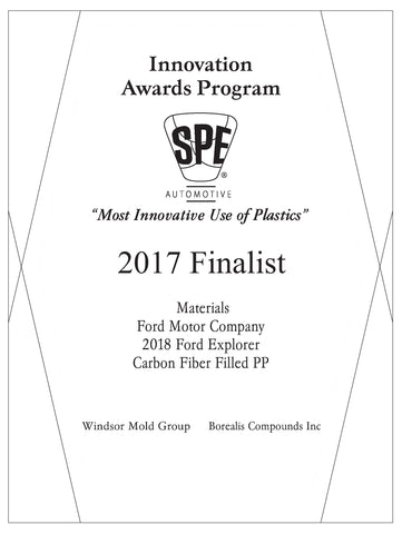 3 Materials: Carbon Fiber Filled PP - 2017 Finalist