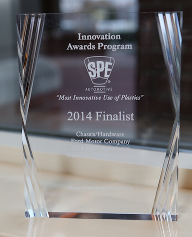 41 Chassis/Hardware Seamless Flipper Window - Finalist Desk Plaque