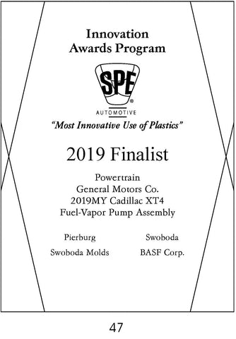 47 Powertrain: Fuel-Vapor Pump Assembly - 2019 Finalist