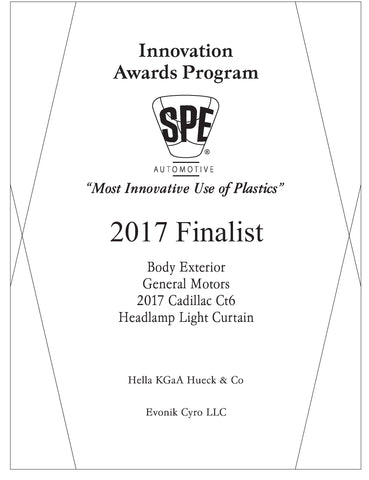 47 Body Exterior: Headlamp Light Curtain - 2017 Finalist