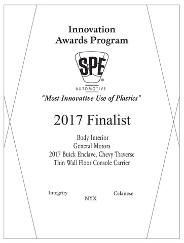 4 Body Interior: Thin Wall Floor Console Carrier - 2017 Finalist