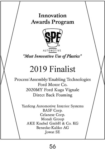 56 Process/Assembly/Enabling Technologies:  Direct Back Foaming - 2019 Finalist