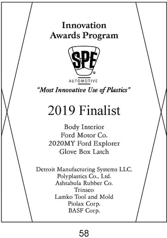 58 Body Interior:  Glove Box Latch - 2019 Finalist