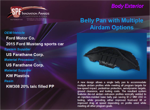 BE - Belly Pan with Multiple Airdam Options 9 x 12 Display Plaque