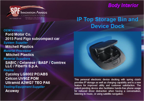 BI - IP Top Storage Bin and Device Deck 9 x 12 Display Plaque