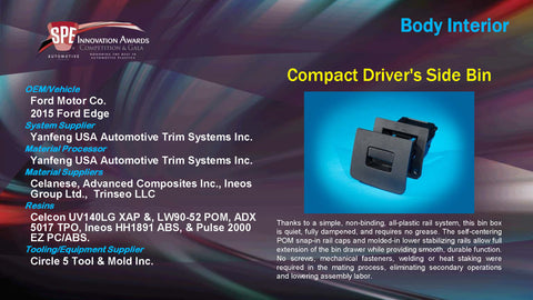 BI Compact Driver's Side Bin - 2015 Display Plaque