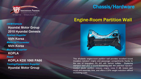 CH Engine Room Partition Wall - 2015 Display Plaque