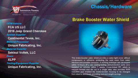 CH Brake Booster Water Shield - 2015 Display Plaque
