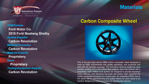 MA Carbon Composite Wheel - 2015 Display Plaque