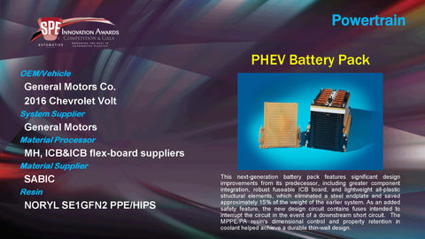 PT PHEV Battery Pack - 2015 Display Plaque