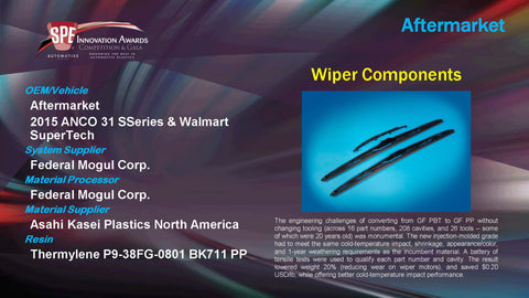 AM Wiper Components - 2015 Display Plaque