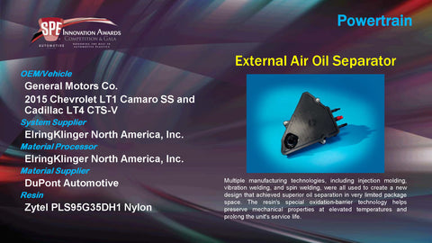PT External Airl Oil Separator - 2015 Display Plaque