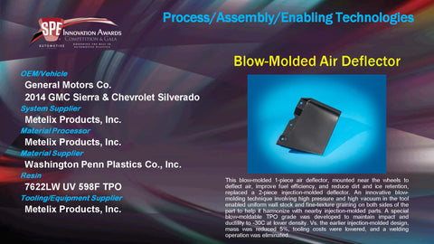 PAET Blow Molded Air Deflector - 2015 Display Plaque