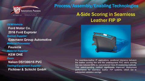 PAET A-Side Scoring In Seamless Leather FIP IP - 2015 Display Plaque