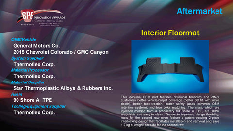 AM Interior Floormat - 2015 Display Plaque