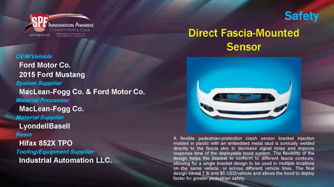 SA Direct Fascia Mounted Sensor - 2015 Display Plaque