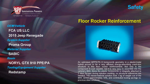SA Floor Rocker Reinforcement - 2015 Display Plaque