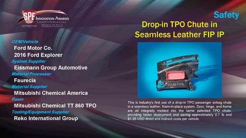 SA Drop In TPO Chute In Seamless Leather FIP IP - 2015 Display Plaque