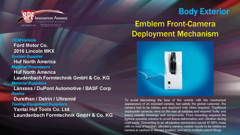 BE Emblem Front-Camera Deployment Mechanism - 2015 Display Plaque