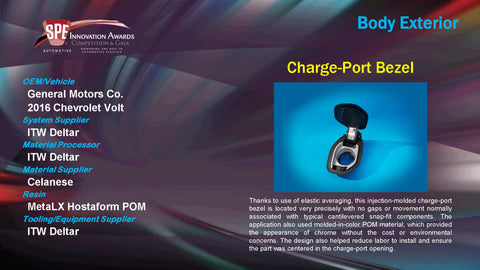 BE Charge Port Bezel - 2015 Display Plaque