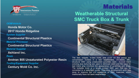 MT:  Weatherable Structural SMC Truck Box & Trunk - 2016 Display Plaque