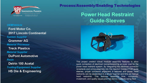 PAET:  Power Head Restraint Guide Sleeves - 2016 Display Plaque