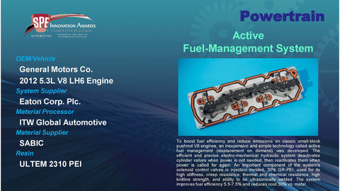 PT:  Active Fuel-Management System - 2016 Display Plaque
