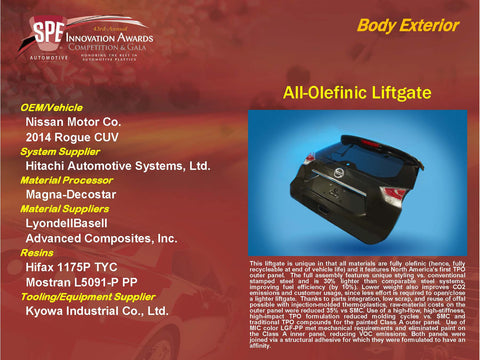 BE - All-Olefinic Liftgate - Display Plaque 9x12