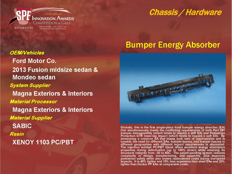 CH - Bumper Energy Absorber - Display Plaque 9x12