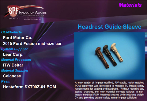 MA Headrest Guide Sleeve 9 x 12 Display Plaque