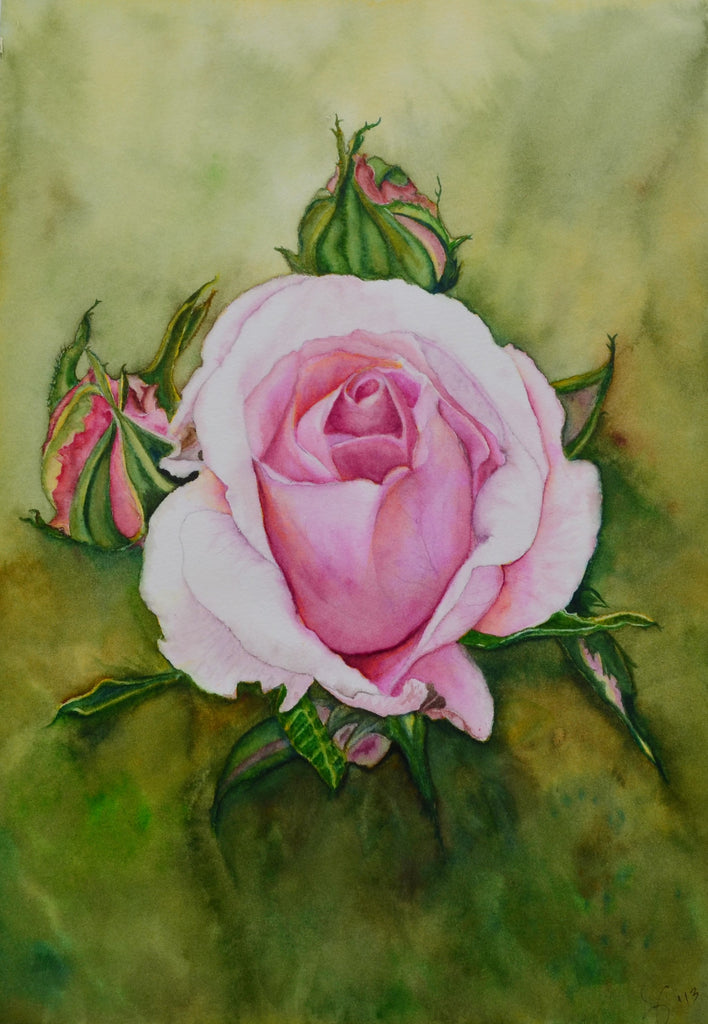 """The Bloom"" Watercolor print by Susan Ringer"