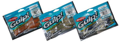 "Gulp Soft Bait Packet 6"" Squid Vicious"