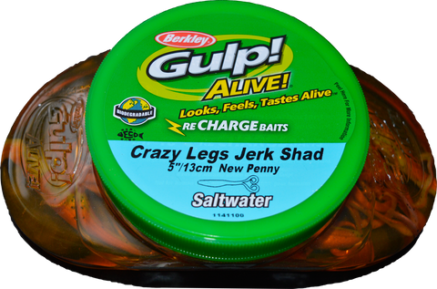 "Gulp Soft Bait Tub 5"" Crazy Legs Jerk Shad"
