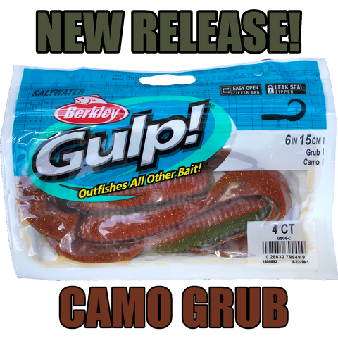"Gulp Soft Bait Packet 6"" Grub"