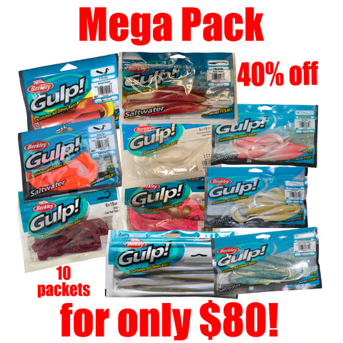 Gulp Soft Bait 10 packet Mega Packet