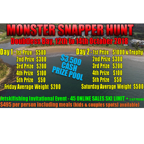 Monster Snapper Hunt 2018